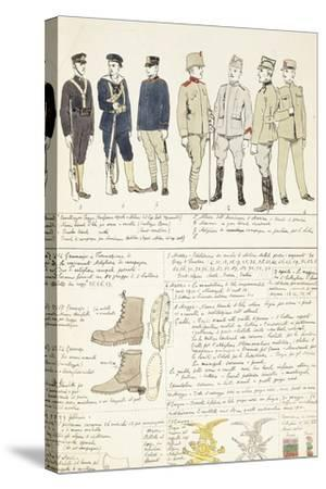 Uniform Variations of Kingdom of Italy, 1912--Stretched Canvas Print