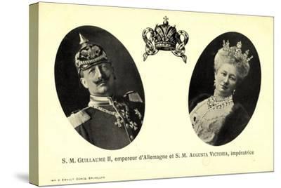 Kaiser Wilhelm Ii, Auguste Victoria, Empereur--Stretched Canvas Print