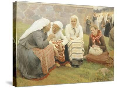 Ruokokoski Women, Finland 19th Century-Albert Edelfelt-Stretched Canvas Print