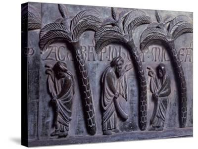Prophets in Paradise of Palms, Bronze Panels from St Ranieri's Door-Bonanno Pisano-Stretched Canvas Print