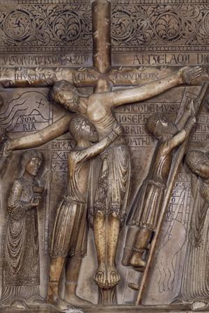 Descent from Cross, 1178-Benedetto Antelami-Stretched Canvas Print