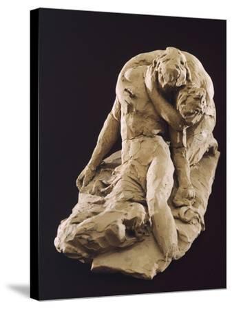 Venus and Adonis-Antonio Canova-Stretched Canvas Print