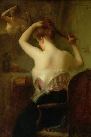 Woman Arranging Her Hair, 1903-Etienne Tournes-Stretched Canvas Print