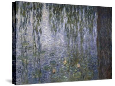 Water Lilies, Detail, 1840-1929-Claude Monet-Stretched Canvas Print