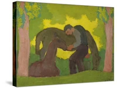 Man with Two Horses, 1890-Edouard Vuillard-Stretched Canvas Print