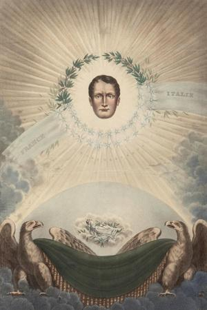 Allegory of Napoleon Surrounded by a Laurel Wreath and a Star- De Labarussias-Stretched Canvas Print