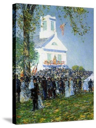 An American Country Fair, 1890-Childe Hassam-Stretched Canvas Print