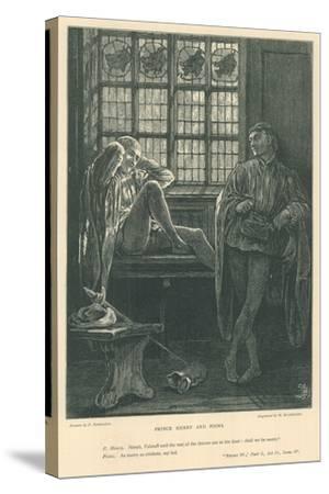 Illustration for King Henry IV, Part I-Frederick Barnard-Stretched Canvas Print