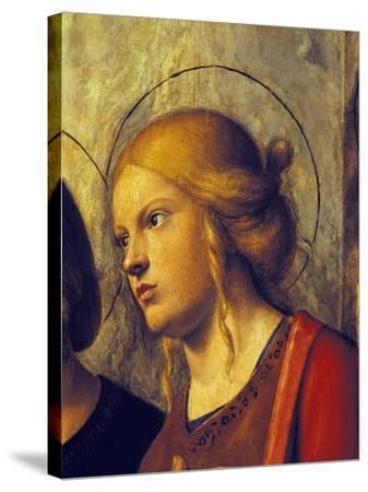 Saint's Face, Detail from Madonna with Child and Saints-Giovanni Battista-Stretched Canvas Print