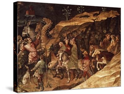 Wise Men on their Way to Bethlehem, Circa 1420-Giovanni Da Modena-Stretched Canvas Print