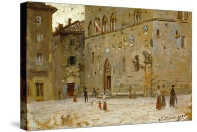 In Square in Volterra-Francesco Gioli-Stretched Canvas Print