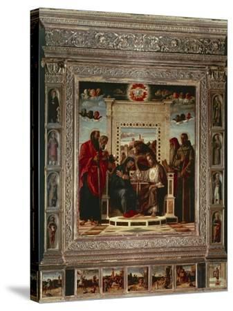 Pesaro Altarpiece-Giovanni Bellini-Stretched Canvas Print