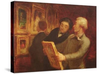 The Amateur Painter-Honore Daumier-Stretched Canvas Print