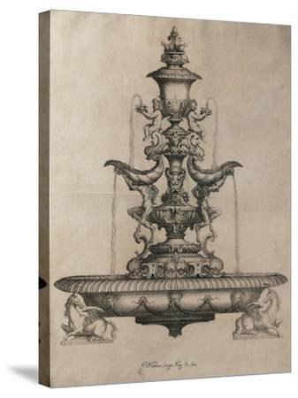 Centrepiece in the Form of a Fountain-Horace Scoppa-Stretched Canvas Print
