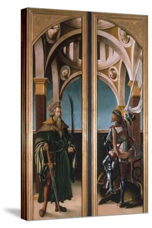 St. Sigismund and St. George, Detail from Doors of a Triptych of the Crucifixion, 1519-Hans Burgkmair-Stretched Canvas Print