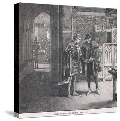 Louis XI and the Herald-Henry Marriott Paget-Stretched Canvas Print