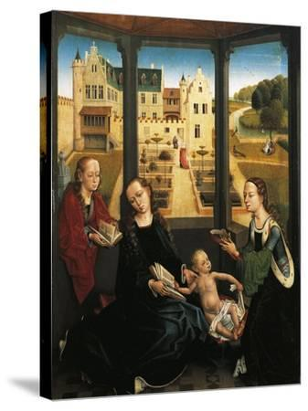 Madonna and Child in a Garden, 1494, Capilla Real, Granada, Spain-Hans Memling-Stretched Canvas Print