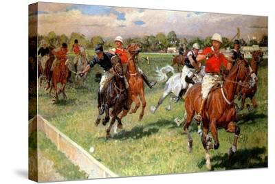 A Game of Polo, 1911-Ludwig Koch-Stretched Canvas Print
