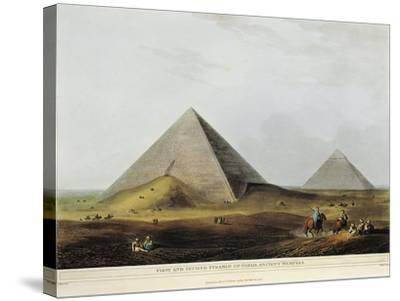 Arab Dwelling Built on Ancient Ruins Along the Menuf Canal in Egypt from Views in Egypt, 1804-Luigi Mayer-Stretched Canvas Print