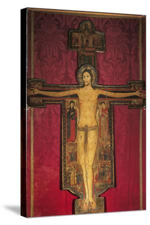 Wooden Cross, 13th Century-Maestro Guglielmo-Stretched Canvas Print