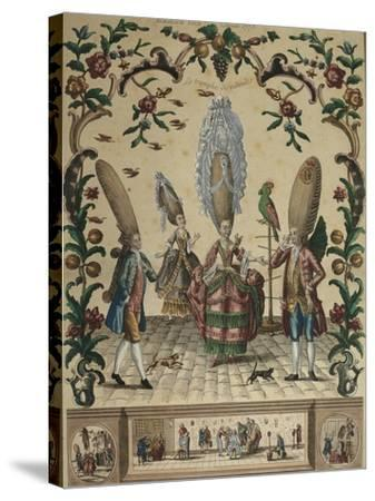 France, the Triumph of Ridicule from an Almanac by Basset, 1773-Paul André Basset-Stretched Canvas Print