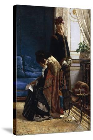 News from Afar, 1875-Pier Celestino Gilardi-Stretched Canvas Print