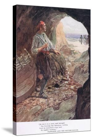 He Hid it in a Cave-William Rainey-Stretched Canvas Print