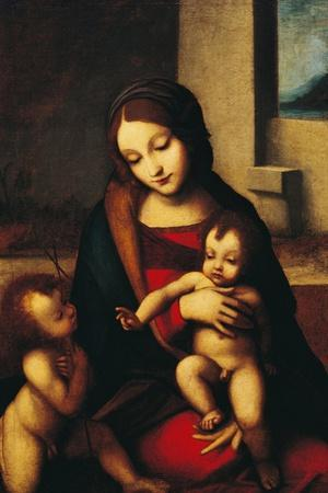 Italy, Rome, Madonna and Child with the Infant Saint John--Stretched Canvas Print