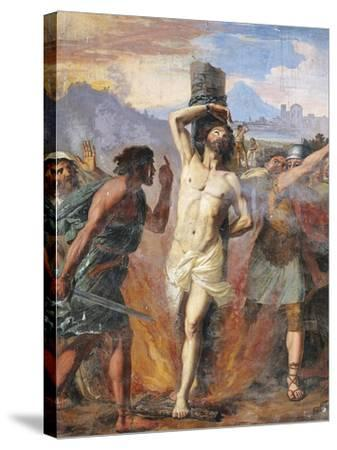 Martyrdom of Polycarp, Basilica of St Stephen in Round on Celian Hill, Rome, Italy, 16th Century--Stretched Canvas Print