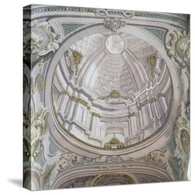 Detail of Ceiling with Frescoes-Vincenzo Re-Stretched Canvas Print