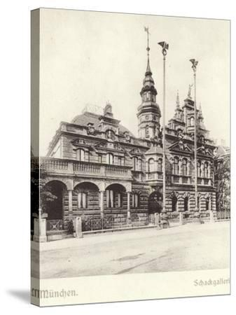 Postcard Depicting the Schackgalerie--Stretched Canvas Print
