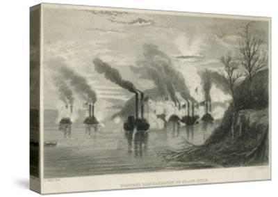 Porter's Bombardment of Grand Gulf, C.1863-Thomas Nast-Stretched Canvas Print
