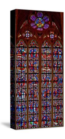 Window W209 Depicting Scenes from Life of St Nicholas--Stretched Canvas Print