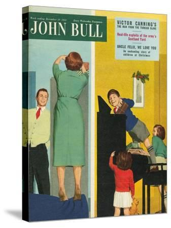 Front Cover of 'John Bull', December 1953--Stretched Canvas Print