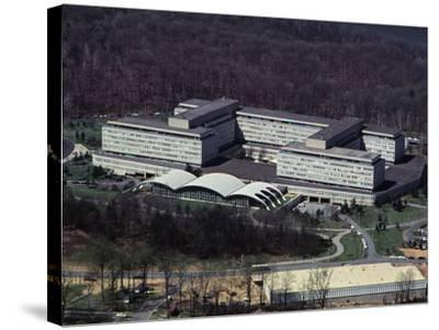 Aerial View of CIA Building--Stretched Canvas Print