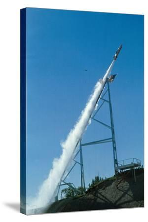 Evel Knievel's Rocket Launching--Stretched Canvas Print
