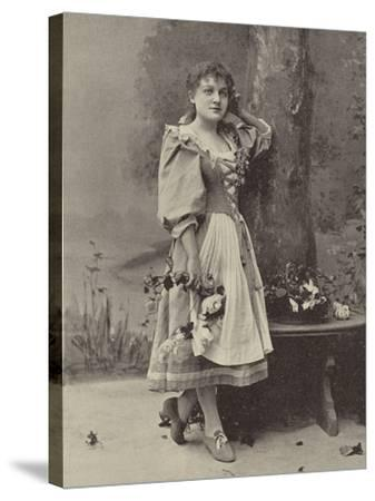 """Miss Dorothy Vane, in """"Haddon Hall""""--Stretched Canvas Print"""
