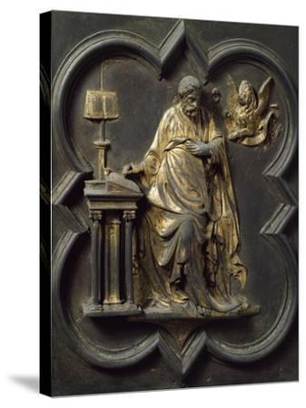 Saint Mark Evangelist, Bronze Panel--Stretched Canvas Print