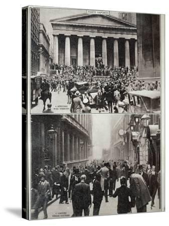 Black Days on Wall Street; the Stock Exchange in London at the Time of the Crash in 1929--Stretched Canvas Print