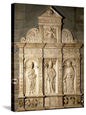 Bas-Relief from Right Side of Altar of Cathedral of Santa Maria Assunta, Cremona, Italy--Stretched Canvas Print