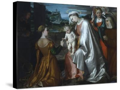 Mystic Marriage of Saint Catherine in the Presence of Saints Ursula--Stretched Canvas Print
