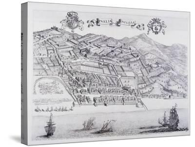 View of Oneglia, by Theatrum Regiae Celsitudinis Sabaudiae, 1682ed in Amsterdam--Stretched Canvas Print