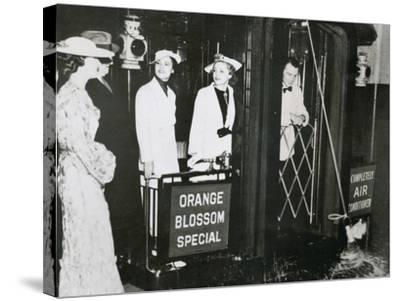 The 'Orange Blossom Special' of the Seabord Air Line Prepares to Leave Pennsylvania Station--Stretched Canvas Print