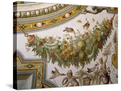 Fantastical Patterns and Festoon with Fruit and Flowers, from Vault of Hall of Victory--Stretched Canvas Print