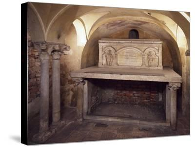 Italy, Milan, Basilica of Sant'Ambrogio, Ciel D'Oro, Oratory of San Vittore--Stretched Canvas Print