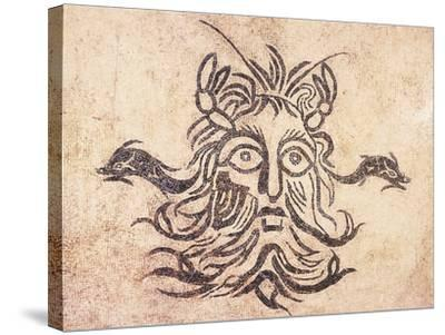 Floor Mosaic Depicting God Oceanus, from Cividale Baths, Friuli Venezia Giulia--Stretched Canvas Print