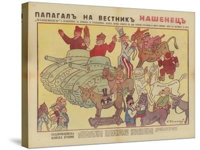 Bulgarian WW2 Political Cartoon--Stretched Canvas Print