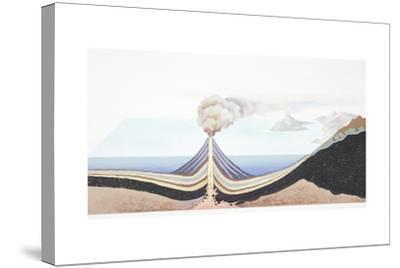 Volcanic Eruption at Sea--Stretched Canvas Print