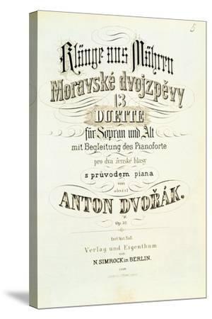 Moravian Duets by Dvorak--Stretched Canvas Print