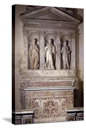 Marble Ancona with Three Saints, Amalfi Cathedral, Campania, Italy, 16th Century--Stretched Canvas Print